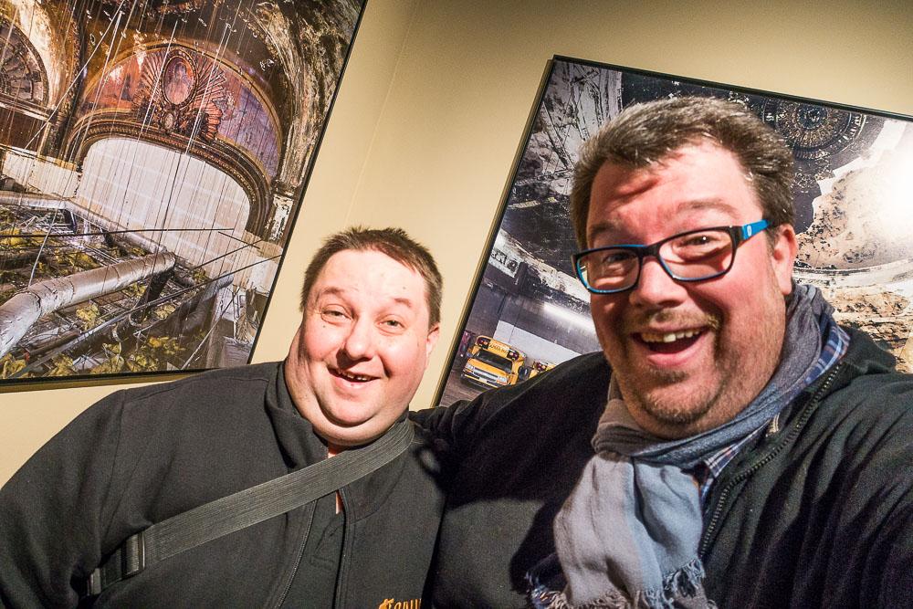 """Ein Selfi von den zwei """"Fotofuzzy-Kalibern"""" ausa dem Filmuseum... Danke für den Spaß Henrik!"""